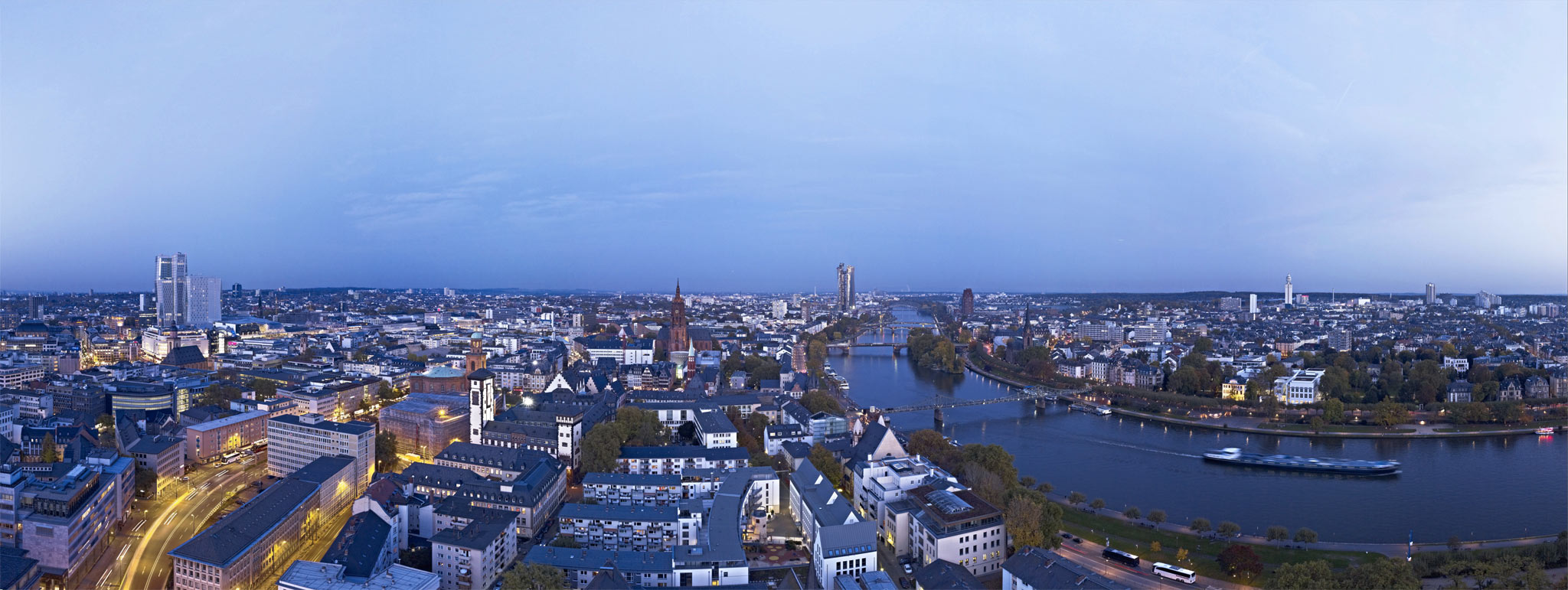 View of Frankfurt am Main in the afternoon